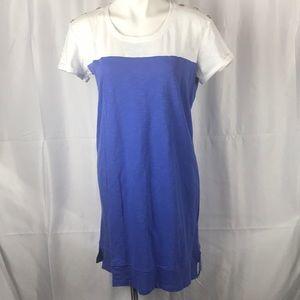 Nicole Miller New York Amparo blue and white dress